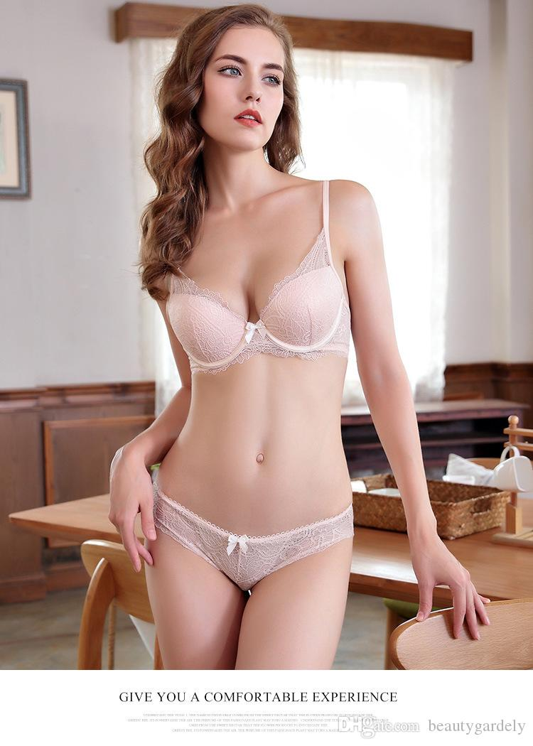 75f54da7a1 New Lace Lingerie Bra Set Women Freshness Bra Set Push Up Bras Romantic  Temptation Underwear Online with  16.35 Set on Beautygardely s Store