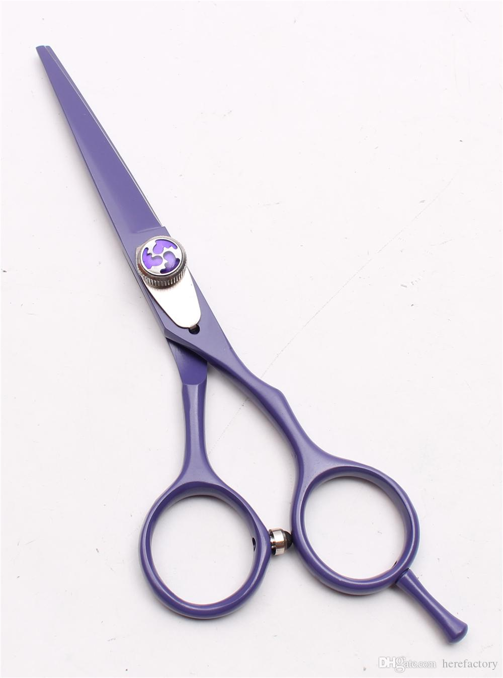 """C1018 5.5"""" Customized Logo High Quality Professional Human Hair Scissors Barbers' Hairdressing Scissors Cutting Thinning Shears Style Tools"""