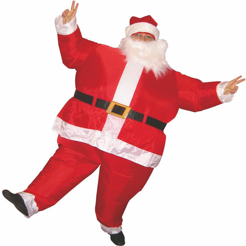 1.5 2m Inflatable Christmas Santa Claus Costume 110 240v Inflatable Santa  Suit Waterproof Polyester Blow Up Santa Claus Decoration 5 Person Halloween  ...