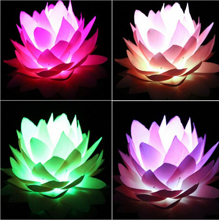 2019 Creative Artificial Silk Lotus Lamp Colorful Cherry Lights For