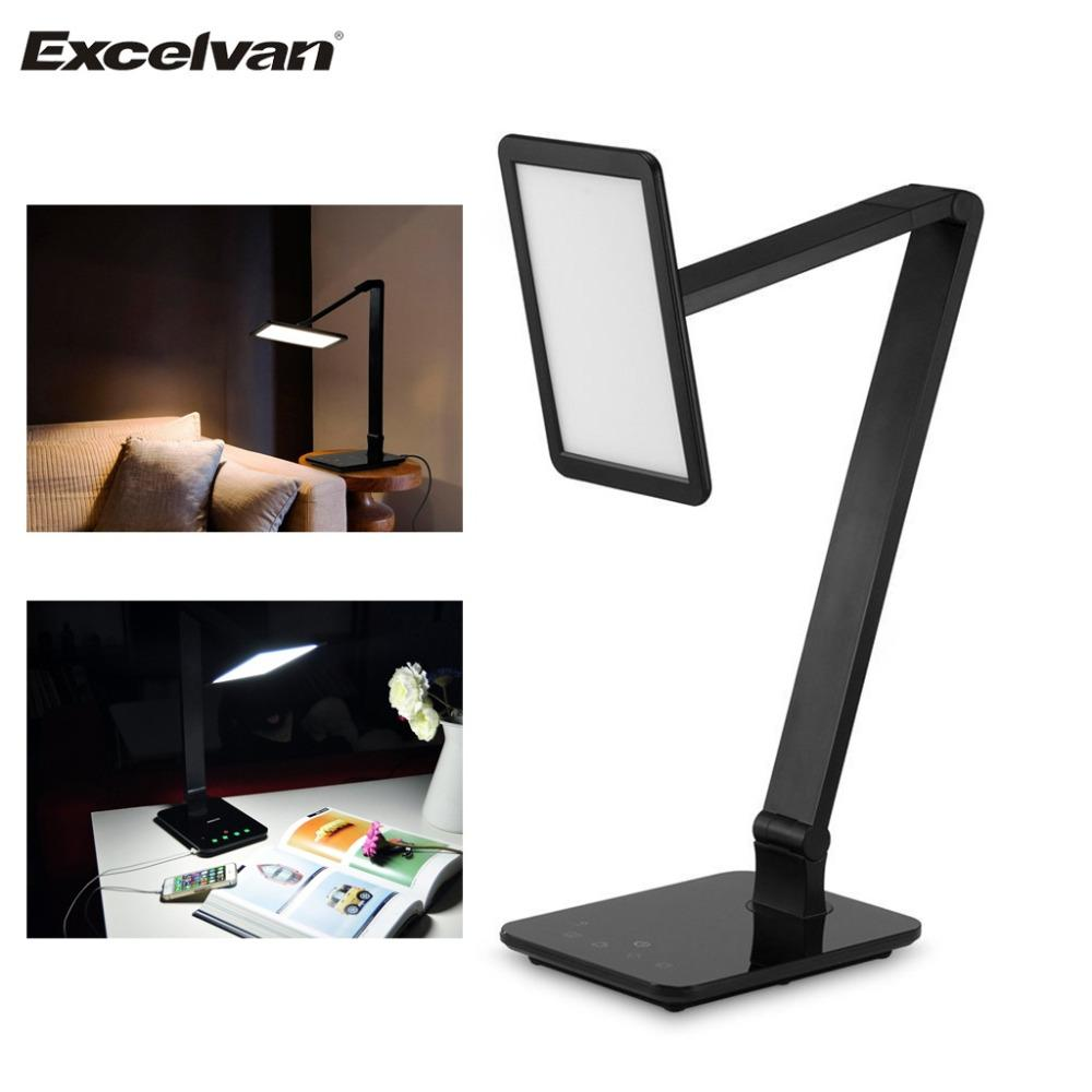 Online cheap excelvan smart touch led desk lamp night reading book excelvan smart touch led desk lamp night reading book light dimming table lamps with usb charging black us plug parisarafo Choice Image