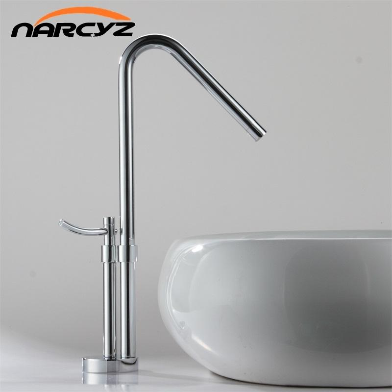 Discount Newest Contemporary Design Solid Brass Bathroom Faucet Tall ...