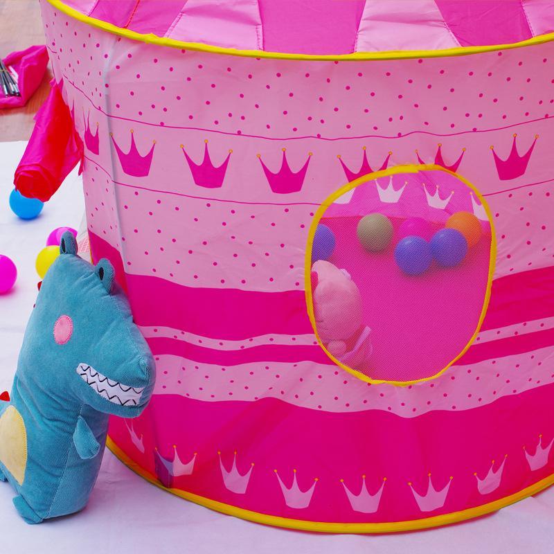 2017 vendita calda bambini Tende bambini Princess Palace Castle Gioco Casa Giocattoli Blu Rosa DHL libera il trasporto