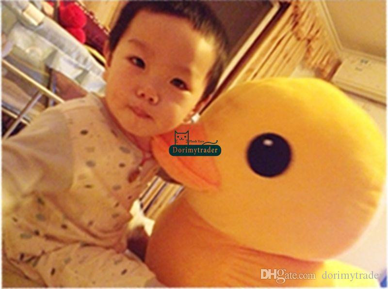 Dorimytrader Top Selling 39'' / 100cm Large Stuffed Soft Plush Cartoon Rubber Duck Toy, Nice Gift for Babies, DY60279