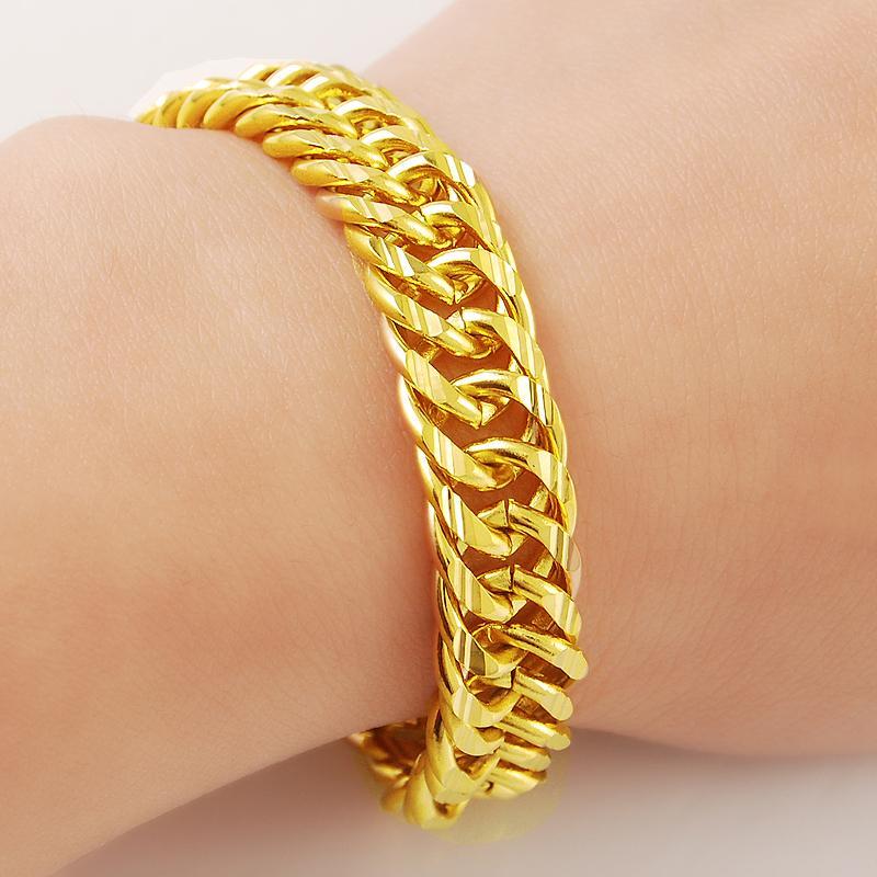707e7c18f18 2019 Genuine 24k Gold Bracelet Jprecision Woven Fashion Unique Ultra Low  Cost Wholesale Elegant From Ren1689, $118.63 | DHgate.Com