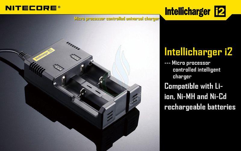 18350 18450 18650 용 Nitecore I2 유니버설 지능형 충전기 14500 26650 개 배터리 US UK EU AU PLUG 모드 충전기 DHL
