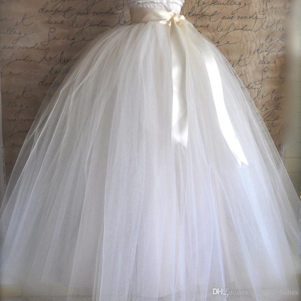 Vintage White Bridal Ball Gown Over Skirts Wedding Dress Maxi Skirt ...
