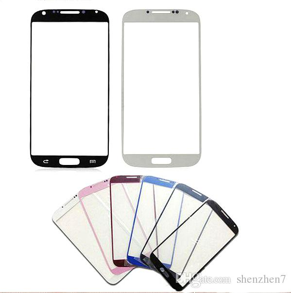 Front Touch Screen For samsung galaxy s4 S5 Front Outer Glass Lens transparent digitizer plate protector skin Original top quality SNP009