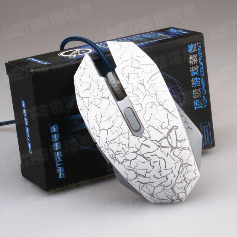 Heißer Verkauf Eine Maus zeigt alle Farben 2400 DPI 4D Tasten führte Rücklicht Maus verdrahtete Gaming-Maus USB verdrahtete Spiel Mäuse für Laptops desktop