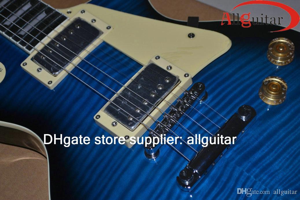 Custom shop Blue guitar 1959 guitarras padrão Chinese Guitars 2015