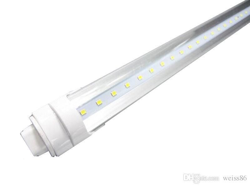 UL r17d Led Tubes Light 8 foot 45W T8 Cooler Door Led Lights Tubes 8ft 4800 Lumens Warm/Cold White AC 85-265V