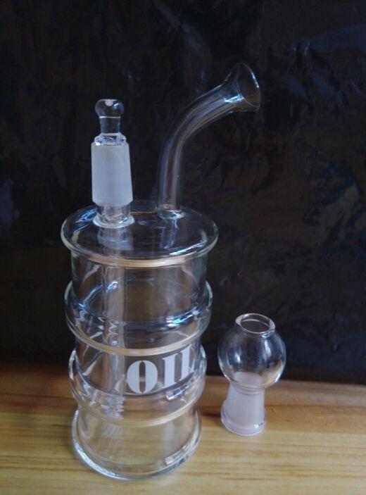 2016 Mini Rig Ölfass Rig Glasbong Ölplattform Recycle Glas Wasserrohr Mit 14mm Männlichen Joint Glas Pfeife