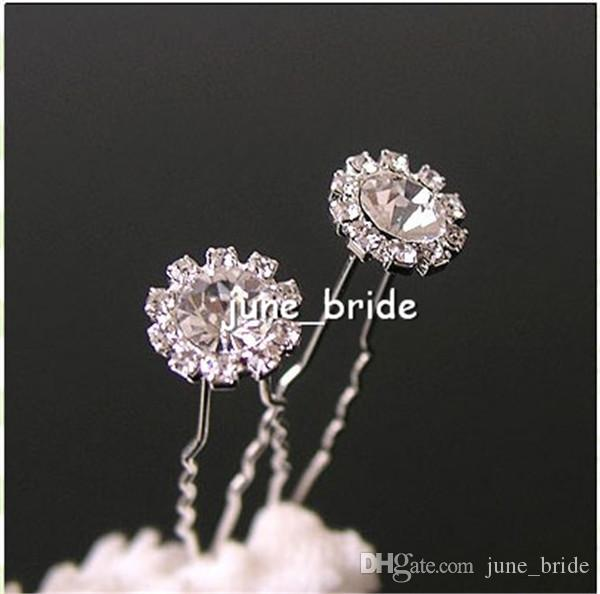 High Quality Clear U Shape Crystal Wedding Bridal Hair Pin Unqiue Sparkly Hair Accessories Hair Fashion Bride Bridesmaid Clip
