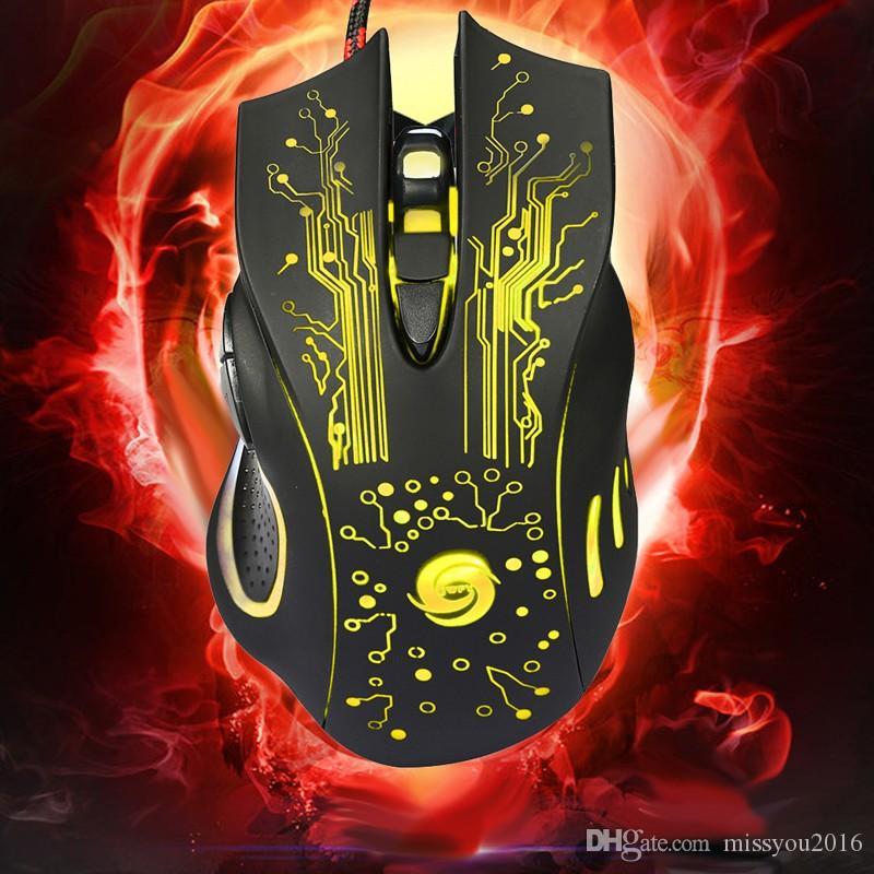3200 DPI LED Optik 6D USB Kablolu Gaming Mouse 6 Düğme Oyunu Pro Gamer Bilgisayar Fareler PC Laptop Için