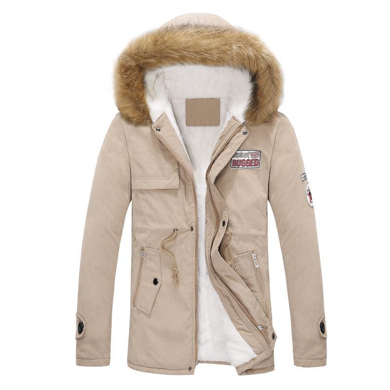 Ropa para hombre Chaqueta para hombre Cálido parka cuello de piel con capucha Invierno grueso pato abajo abrigo Outwear Abajo chaqueta Comfortabel caliente venta caliente Moda