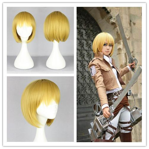 Nw Bob Hairstyle Anime Cosplay Attack On Titan Armin Arlart - Anime bob hairstyle