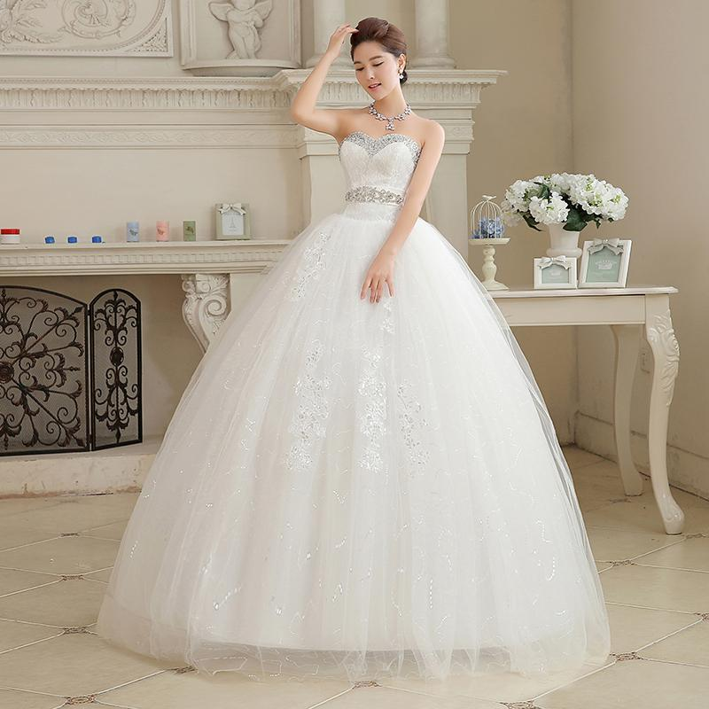2015 Hot Sale Sweetange Korean Style Sweet Romantic Lace Princess V Neck  Wedding Dress Canada 2019 From Joyce59 a7a5ebacf9d2