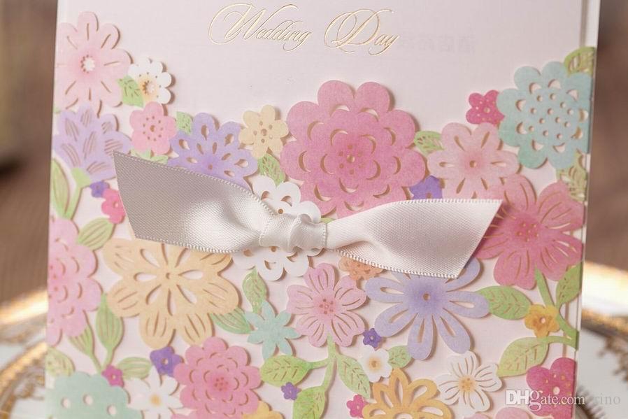 결혼식 초대장 카드 개인화 된 레이저 컷 결혼식 초대장 럭셔리 크리 에이 티브 결혼식 초대장 카드 새로운 디자인 인쇄 가능