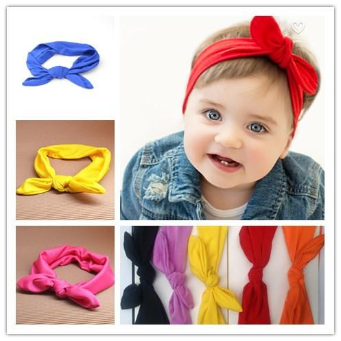 Wholesale Baby Girl Elastic Cloth Rabbit Ears Bow Headbands Pink Hair Band  For Hairlace Baby Baby Headbands Natural Hair Accessories Rhinestone Hair  ... 5a50c41cafe