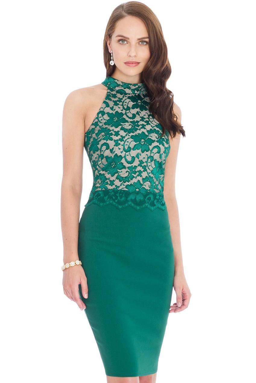 2016 Summer Dresses Women Green Elegent Spliced Lace Dresses Xxl ...