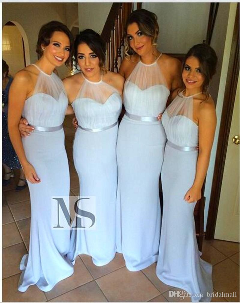Light blue bridesmaids dresses 2015 plus size cheap long light blue bridesmaids dresses 2015 plus size cheap long bridesmaid dress halter chiffon pleats floor length mermaid bridesmaid gowns hy navy bridesmaid ombrellifo Gallery