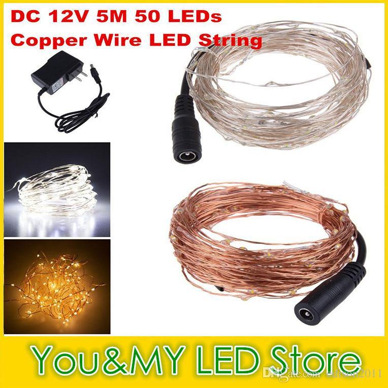 Edison2011 Dc 12v 10m 100 Leds Led Copper Wire String Fairy Light ...