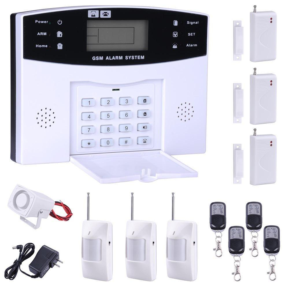 2016 New Home Alarm System Gsm Sms Burglar Security Alarm