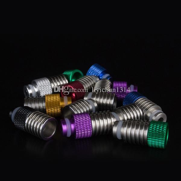 New eGo wide dore tips a goccia in acciaio inox + forma a vite CE4 Atomizzatori 2in1 Vaporizzatore mod meccanico E sigarette 510 Bocchino