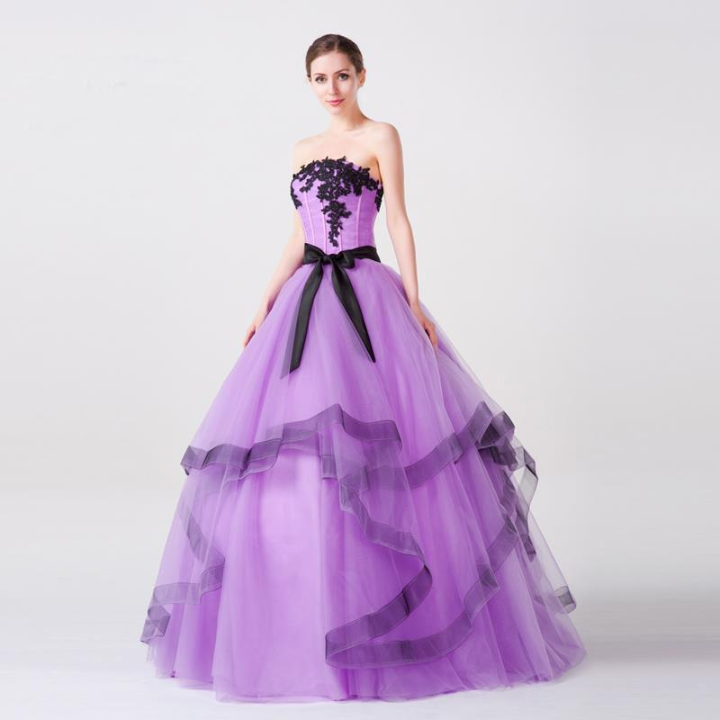 Most Beautiful Ball Gown Wedding Dresses: 2015 Most Beautiful Quinceanera Ball Gowns With Sexy Black