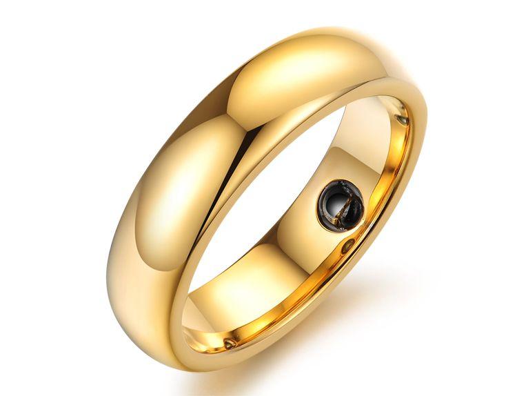316L titane acier plaqué or anneaux bijoux de mode cadeau d'amour pour les femmes anneaux de mariage LOVE Couples Ring