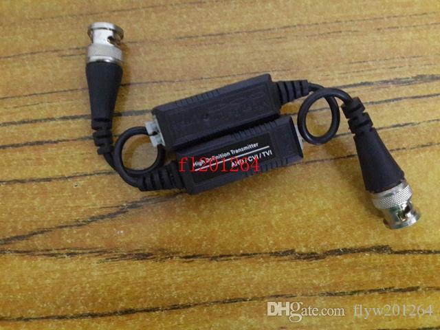 100 pz / lotto Spedizione Gratuita Macchina Fotografica CCTV BNC Press-Fit Video Balun Ricetrasmettitore Cavo HD CVI / TVI / AHD