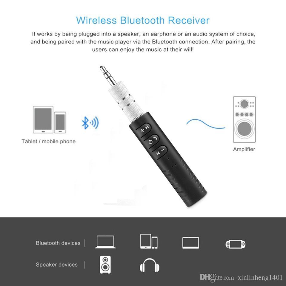 BT-301 Mini Bluetooth Empfänger Auto AUX Audio Wireless Receiver Adapter Freisprechen und drahtlose Musikwiedergabe 3,5 mm AUX