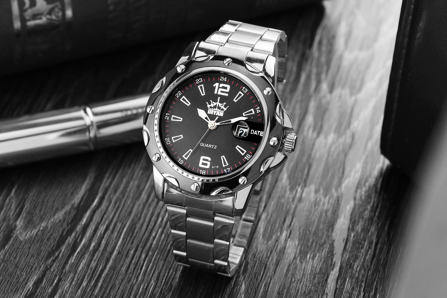 men steel man stainless pp quartz waterproof casual watches brand business watch famous analog luxury new s