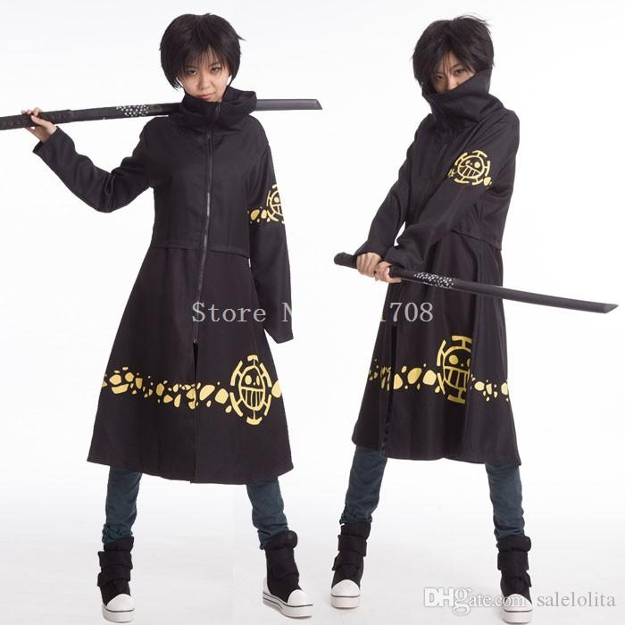 bf838fcfdfae High Quality Trafalgar D Water Law Cosplay Long Coat Costume One Piece  Cloak Capes For Women Naruto Cosplay Costume Halloween Costumes Children  From ...