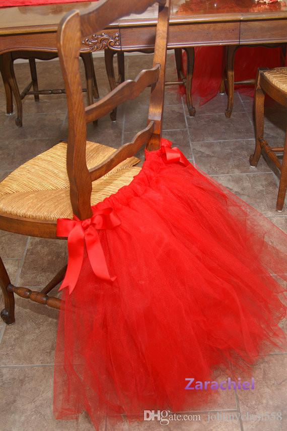 wholesale 2016 tulle tutu chair skirts wedding chair covers tulle banquet chair cover for wedding or party decoration