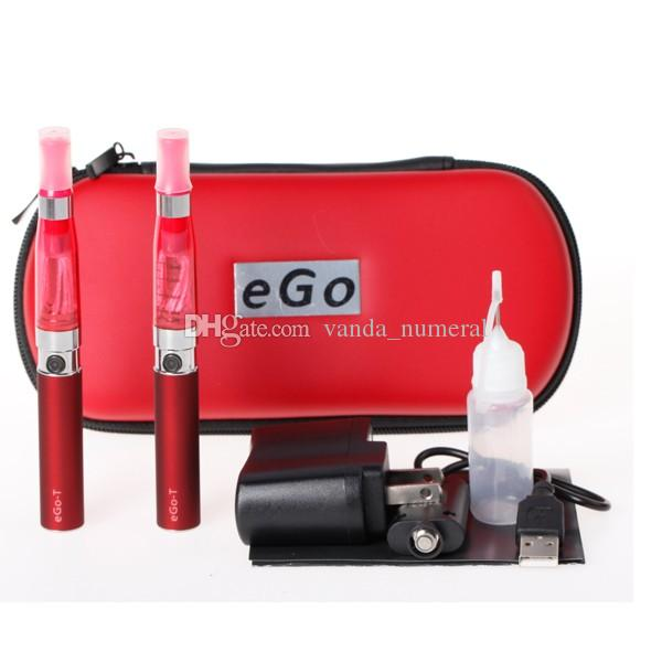 eGo CE4 Double Starter kit 2 CE4 atomizer 2 batteries in eGo zipper case 650mah 900mah 1100mah battery Electronic Cigarette set series