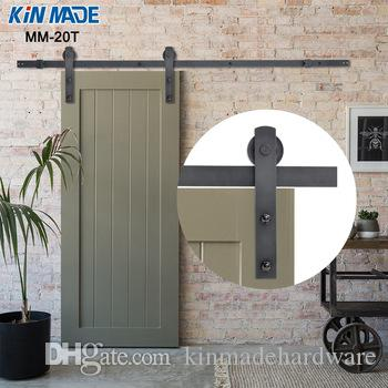 KIN MADE Home DIY Steel Sliding Barn Door Hardware Rustic Wood Door Closet  Hardware 4.1ft/5ft/5.2ft/6ft/6.6ft/8ft Sliding Barn Door Hardware Rustic  Wood ...