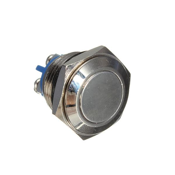 16mm Anti-Vandal Momentary Stainless Steel Push button Switch With Screw High Quality order<$18no track