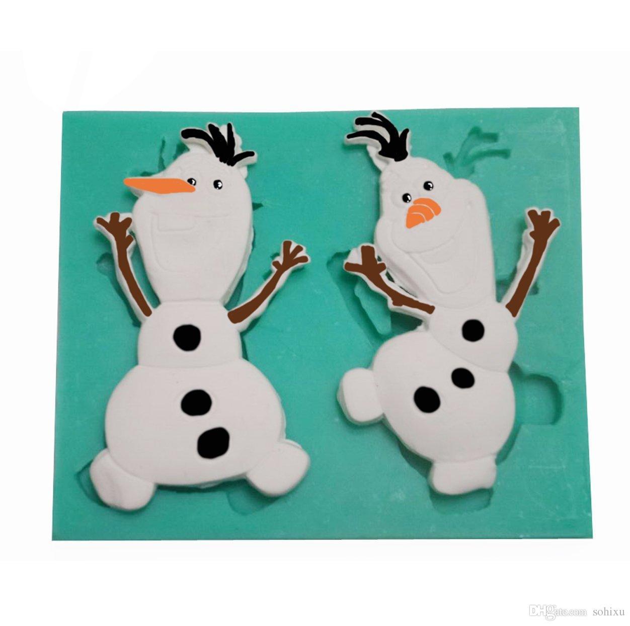 2018 Christmas Snowman Olaf Silicone 3d Soap Molds Sugar Craft ...