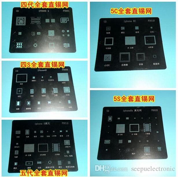 IC Repair BGA Reballing Stencil Template iPhone 4 4S 5 5C 5S 6 6 Plus WIFI