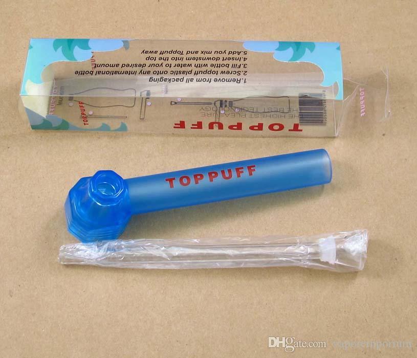 Viajando viajando Agua superior Puff toppuff vaso bong portátil Pipa humeante instantánea Tornillo en la botella Convertidor de color mezclado