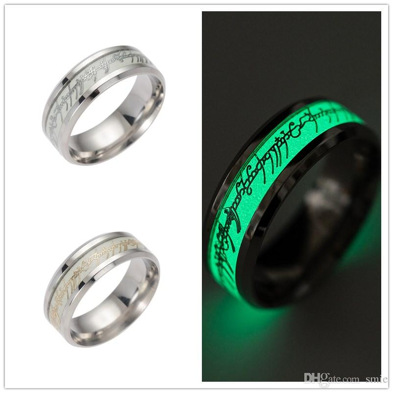 New Stainless Steel The Lord Of One Ring Fluorescent Luminous Glow