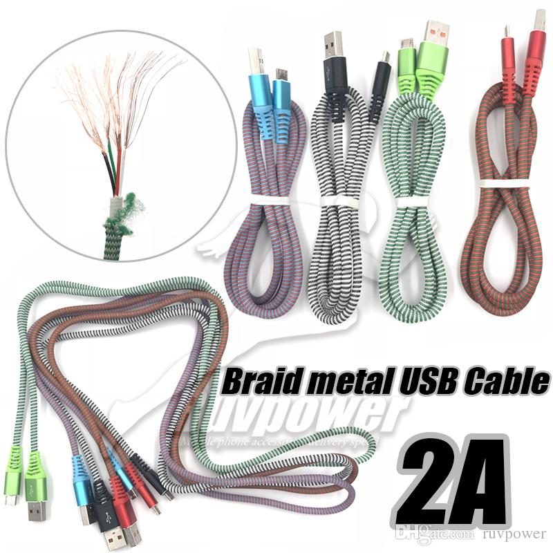 Sensational New Micro V8 Android Over 2A Fast Charge Nylon Braided Wire Usb Wiring Cloud Oideiuggs Outletorg