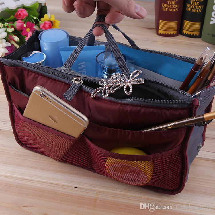 Sac De Maquillage Sac À Main Cosmétique MP3 Mp4 Organisateur De Stockage De Téléphone Sacs Divers Cosmétiques Sacs Multi Deux Sac À Glissière