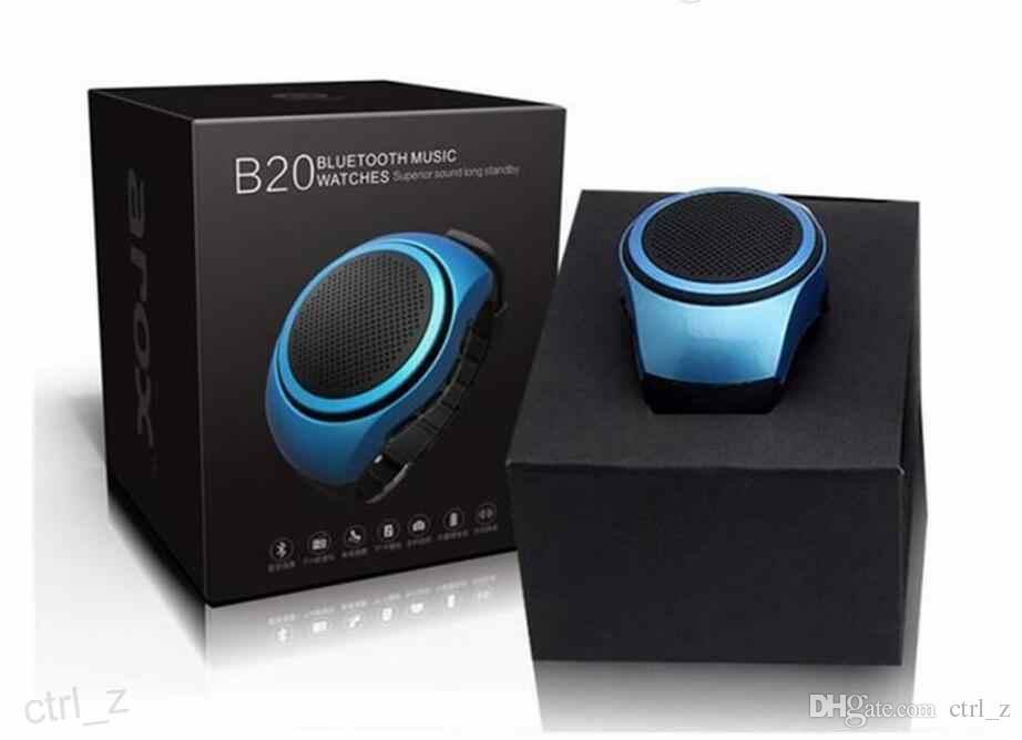 B20 портативный Привет-Fi Bluetooth Беспроводные колонки часы стиль сабвуфер стерео универсальный мини-динамик поддержка TF слот для карт HiFi