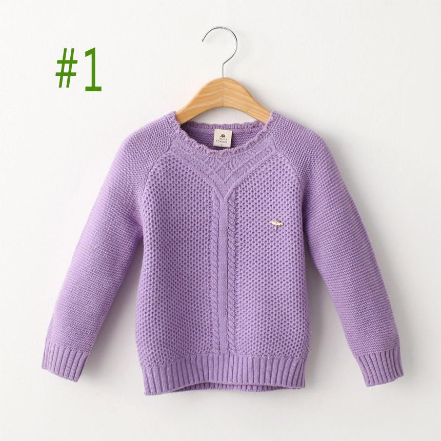 2015 Autumn Winter Pullovers Girls Long Sleeve Sweaters Warmth ...