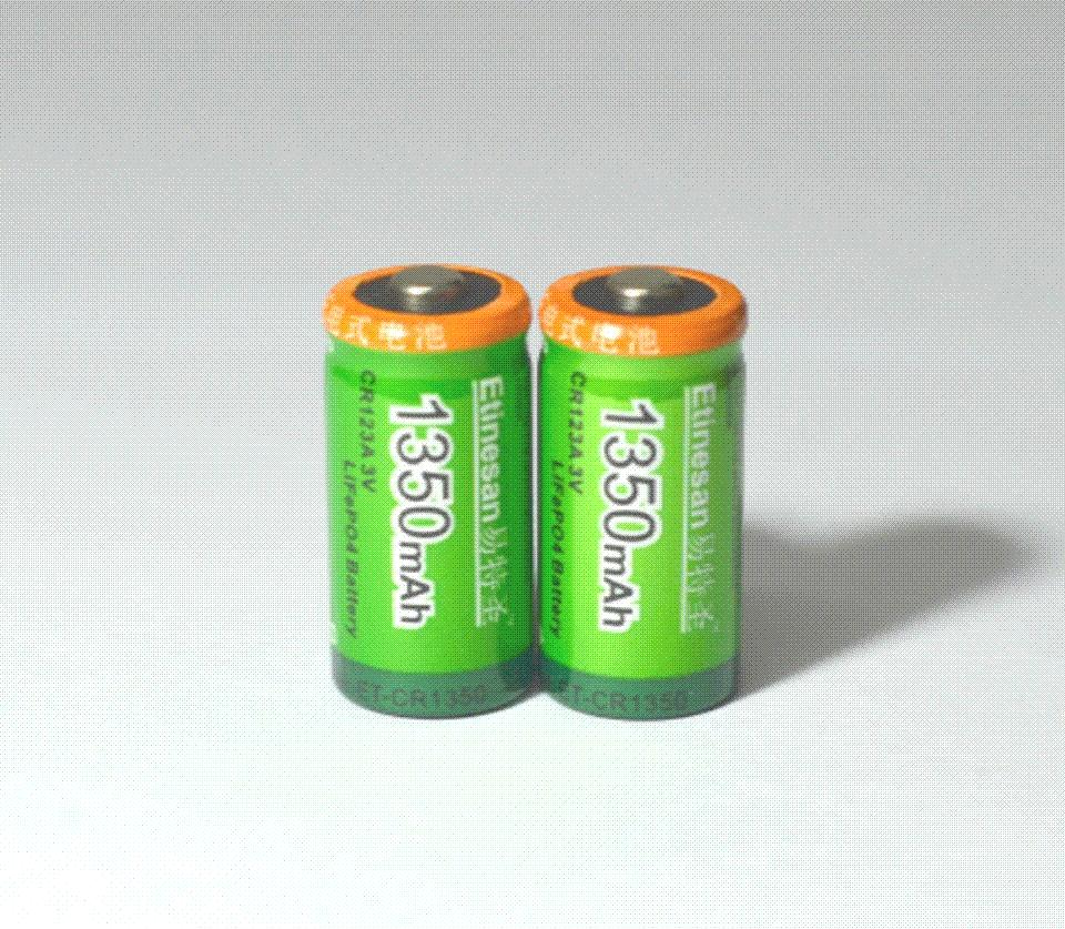 Etinesan 1350mah Cr123a 3v Lithium Battery 16340 30v Camera Lithium