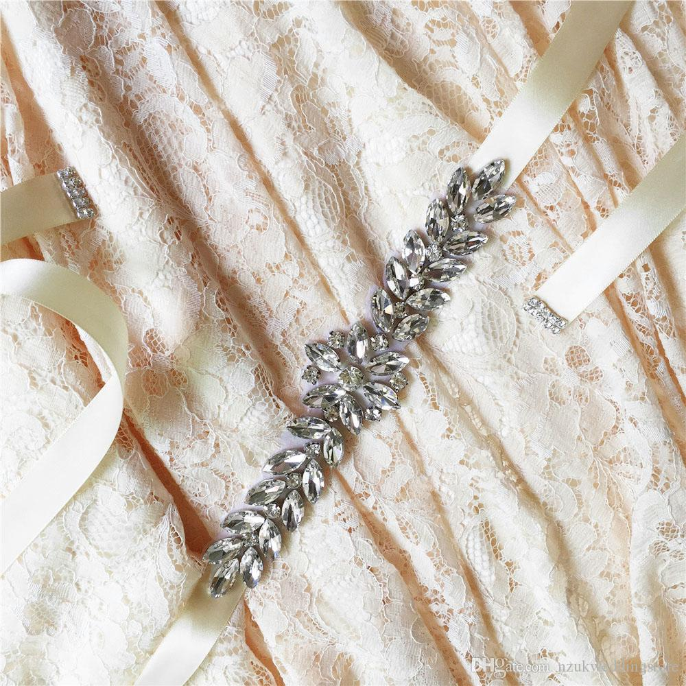 2018 S69 Crystal Rhinestones Evening Party Gown Dresses Accessories Wedding Belts Sashes,Bride Waistband Bridal Sashes Belts