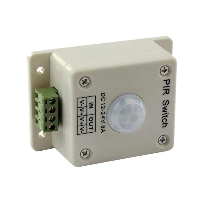 PIR Motion Sensor Switch DC 12V-24V 8A Automatic Infrared For Single Color LED Strip LED Light 3528 5050 5630 Smart Home New Arrival
