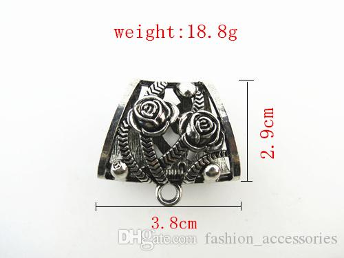 Fashion DIY Pendant Scarf Alloy Slide Bails New Design Spring Opening And Closing System Scarf Pendant Tube,